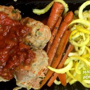 ground turkey meatball paleo meal prep